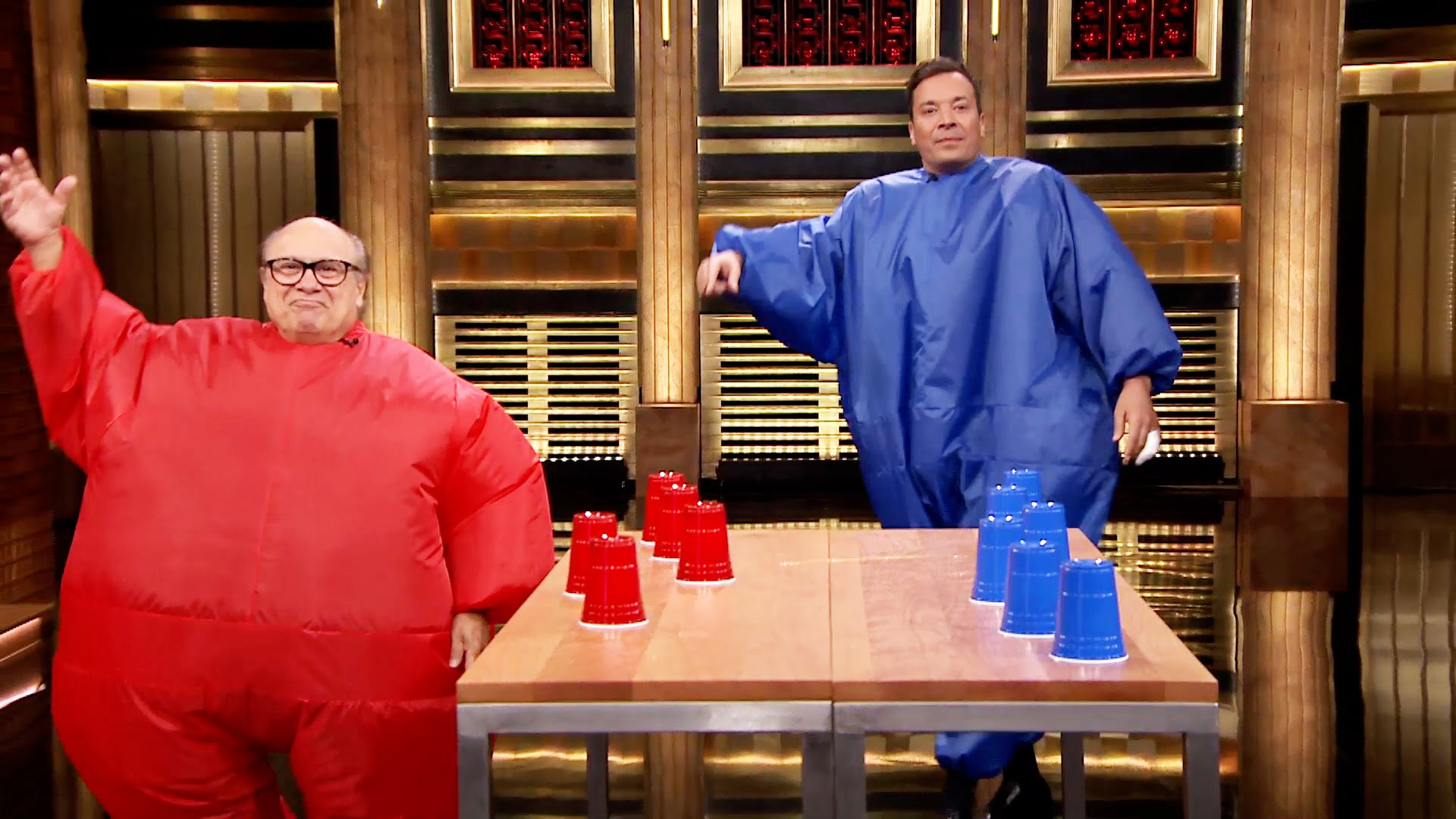 Watch Late Night with Jimmy Fallon Season  - Inflatable Flip Cup with Danny DeVito Online