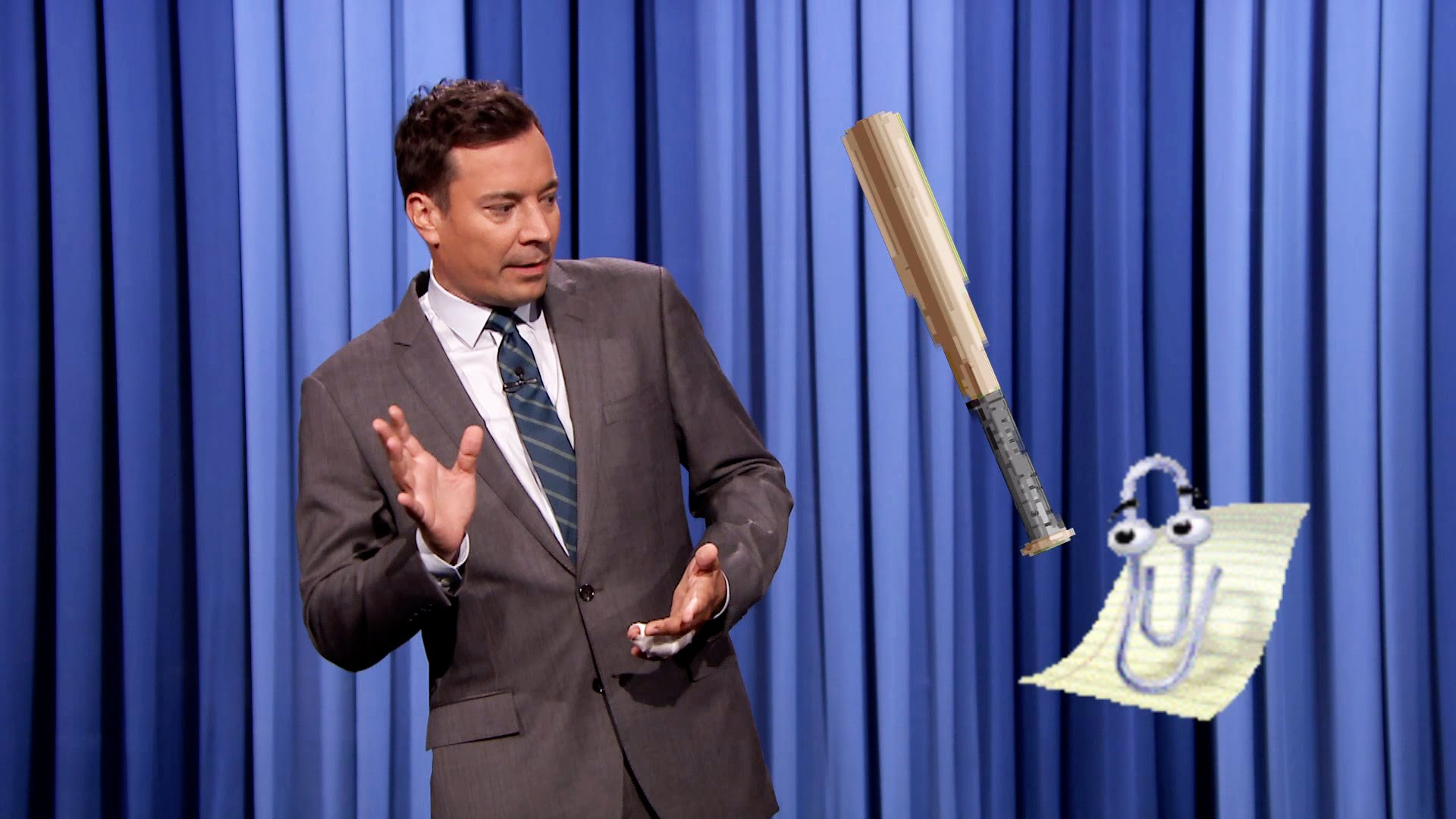 Watch Late Night with Jimmy Fallon Season  - Microsoft Office's Clippy Brings Windows 10 to The Tonight Show Online