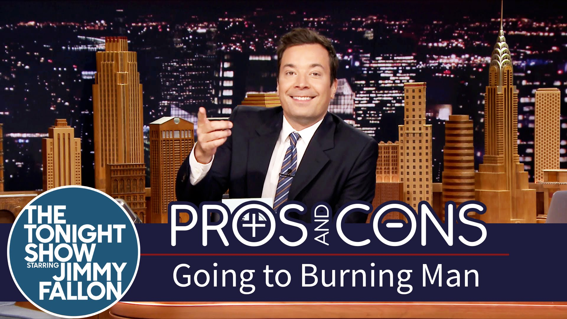 Watch Late Night with Jimmy Fallon Season  - Pros and Cons: Going to Burning Man Online