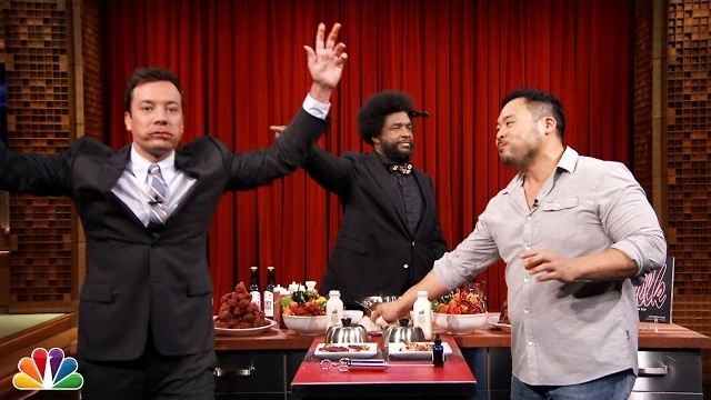 Watch Late Night with Jimmy Fallon Season  - Hot Wing Eating Contest with David Chang Online