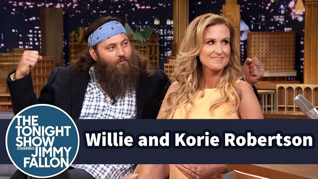 Watch Late Night with Jimmy Fallon Season  - Duck Dynasty's Willie and Korie Robertson Met at Summer Camp Online