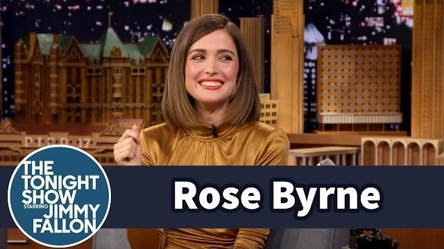 Watch Late Night with Jimmy Fallon Season  - Rose Byrne Shows Off Her Crazy Kookaburra Call Online