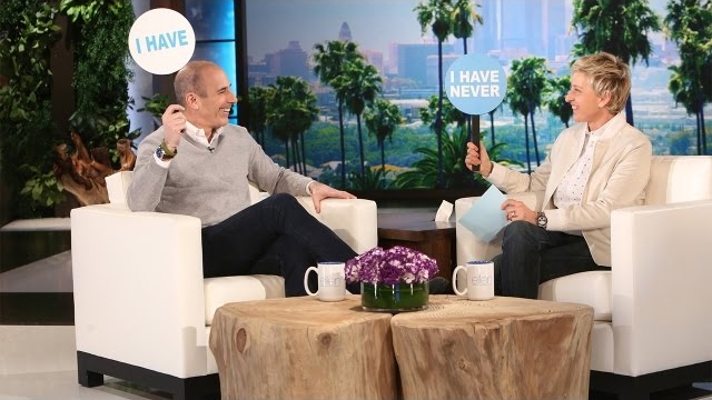 Watch The Ellen DeGeneres Show  Season  - Matt Lauer and Ellen Play Never Have I Ever Online