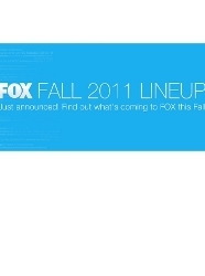 Fox Fall 2011 Lineup